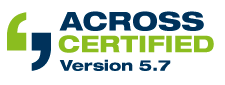 Across Certified Version 5.7